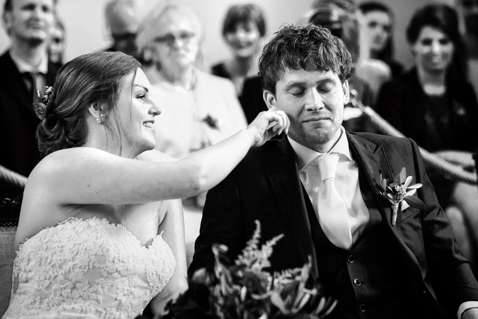 emotie bij de ceremonie