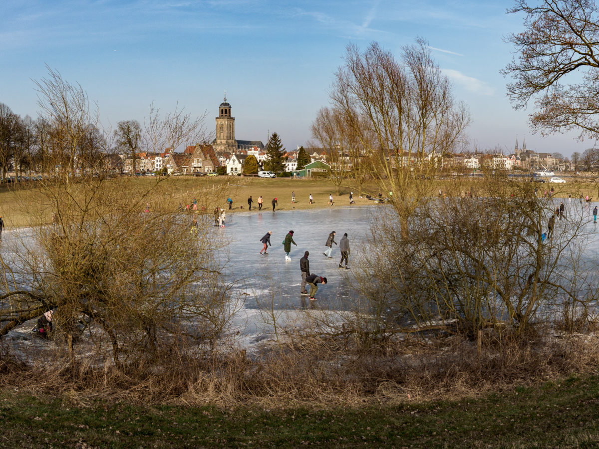 schaatsen, winterlandschap, deventer