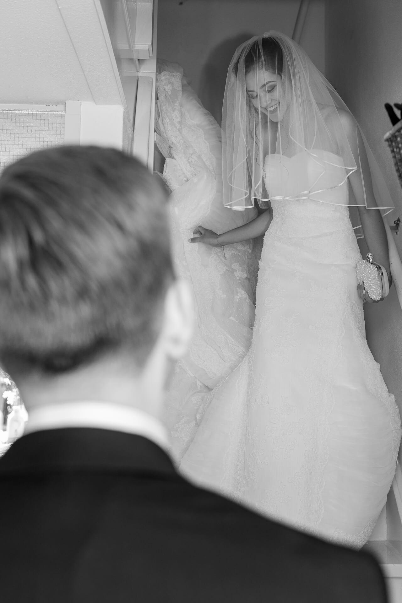 bruiloft trapscene