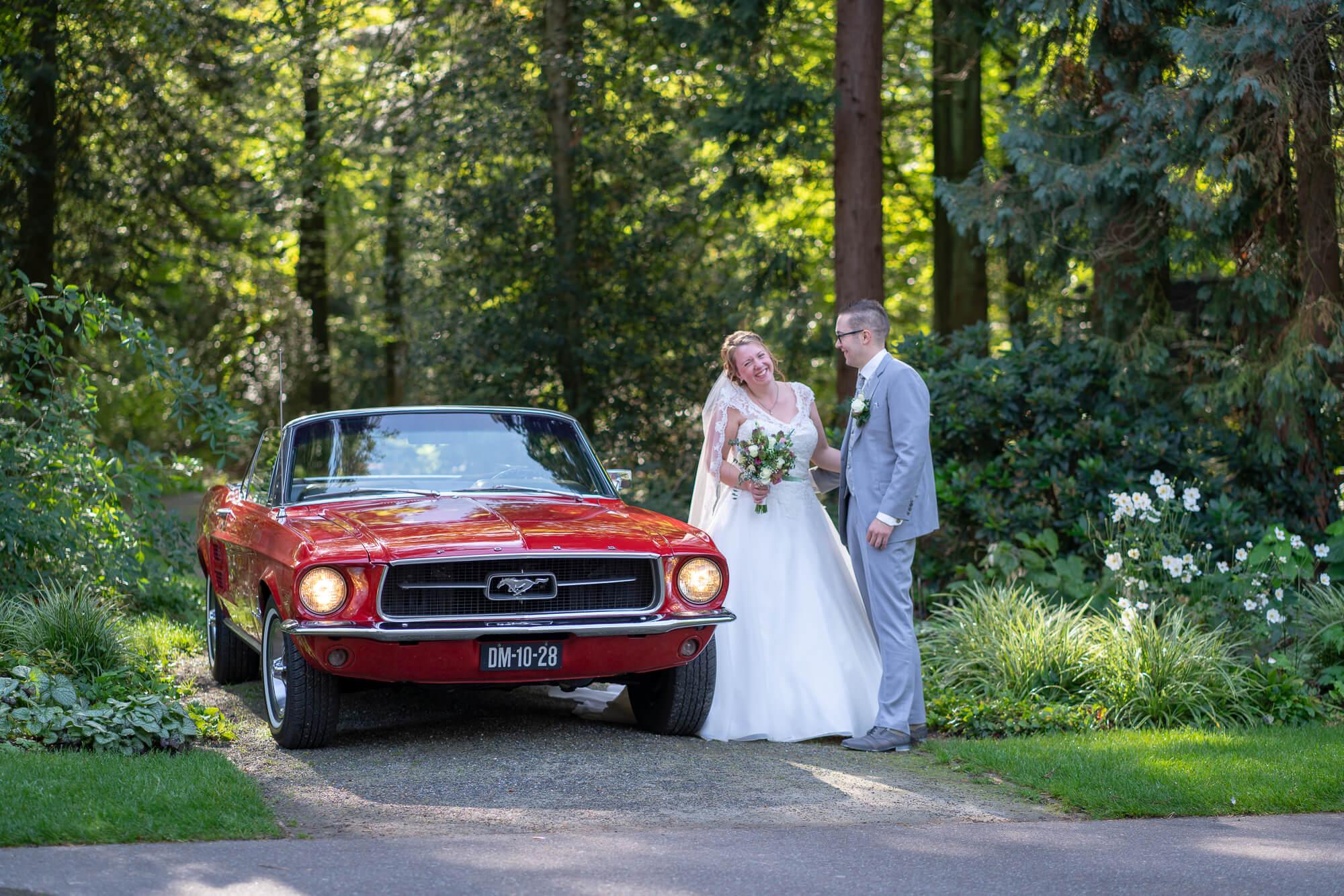 photoshop bewerking vliegend bruidspaar
