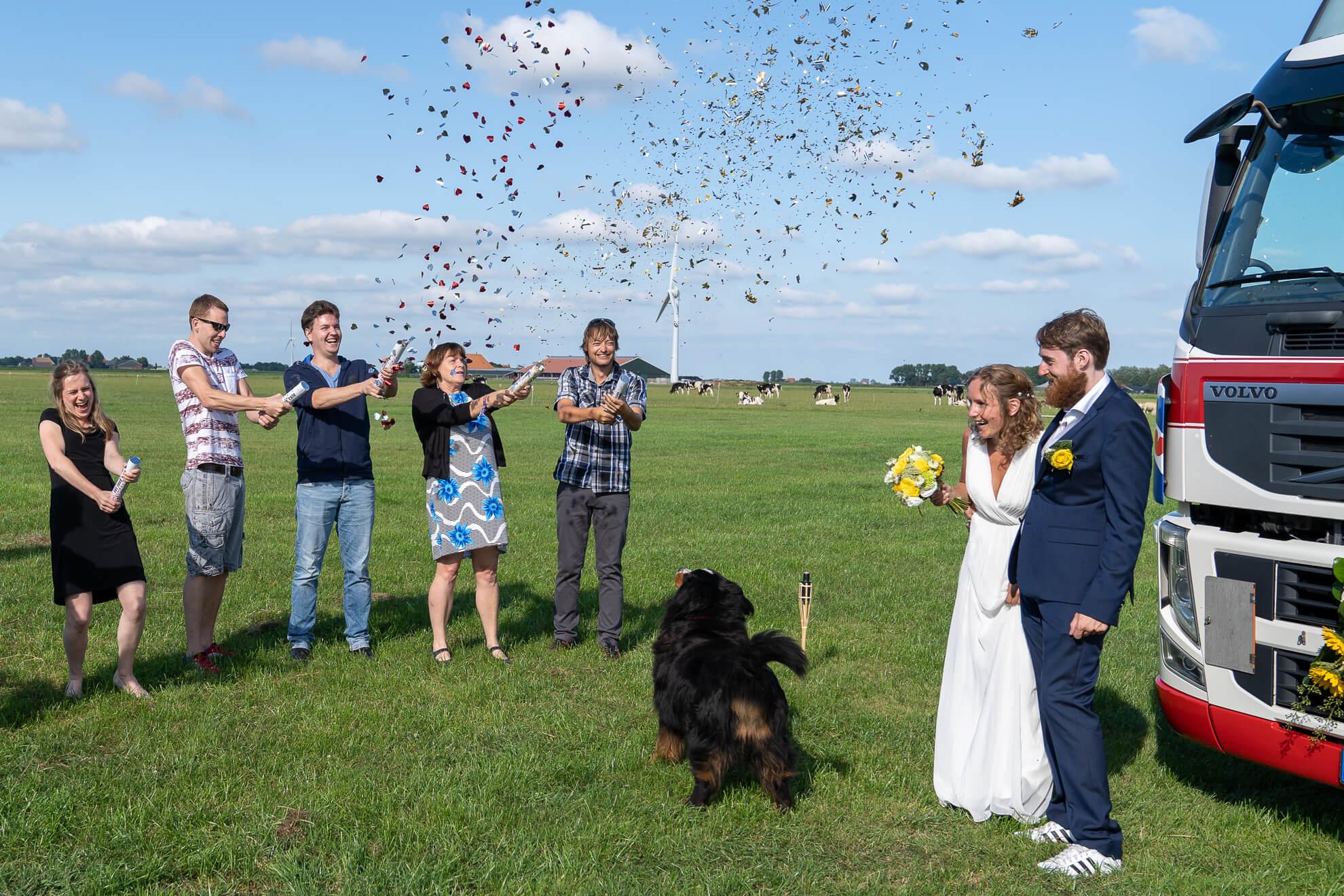 welkom op trouwfeest